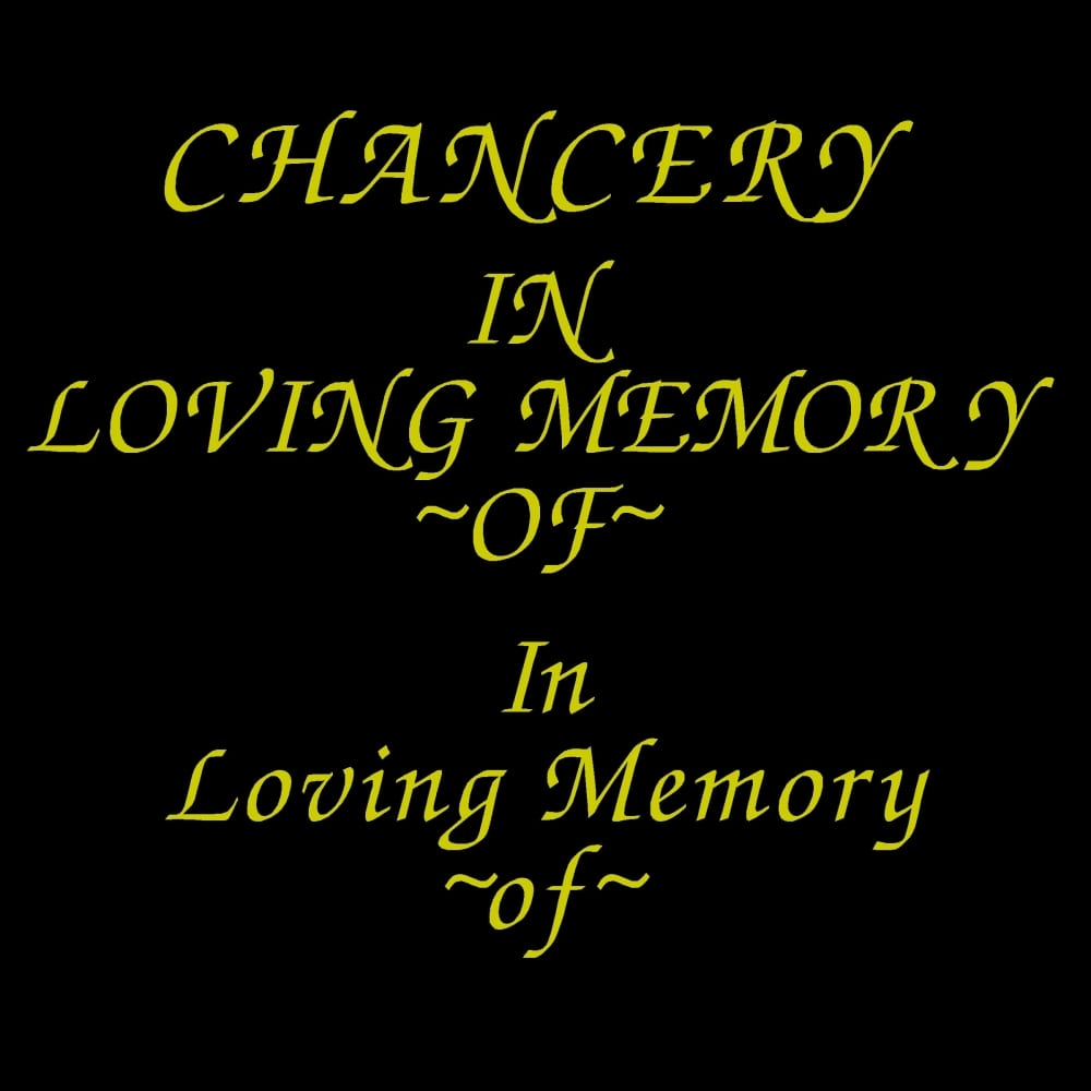 CHANCERY font for grave lettering