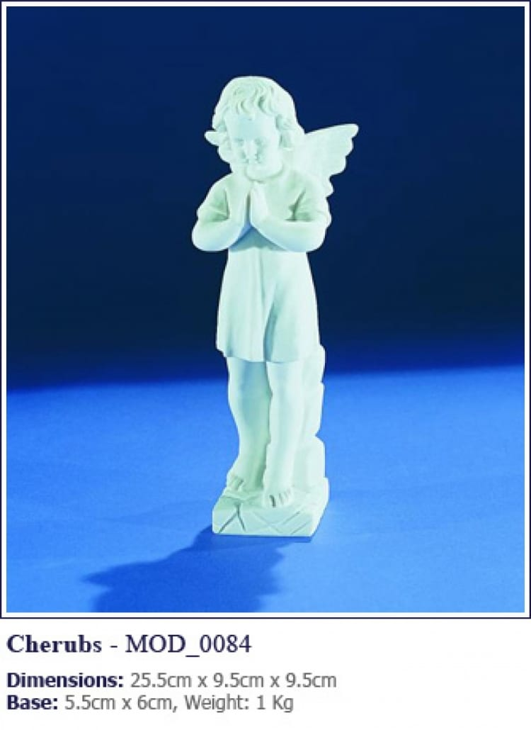 Cherub grave statue