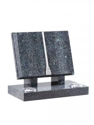 Blue Pearl Granite Bookset Memorial - EC130