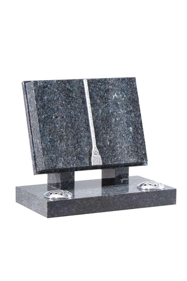 Blue Pearl Granite Bookset Memorial - EC130