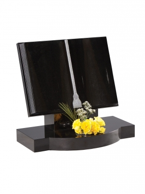 Dense Black Granite Bookset Memorial - EC132