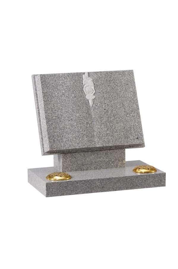 Lunar Grey Granite Bookset Memorial - EC133