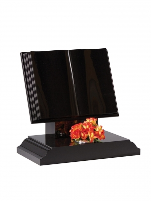 Dense Black Granite Bookset Memorial - EC134