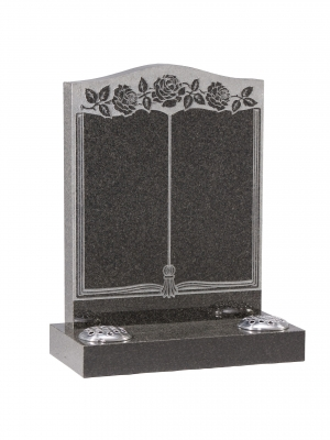 Dark Grey Granite Bookset Memorial - EC138