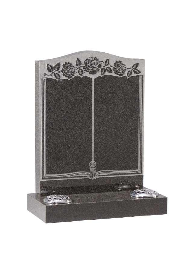 Dark Grey Granite Bookset Memorial - EC138
