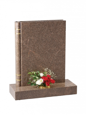 Yellow Teak Granite Bookset Memorial - EC139