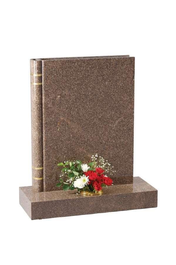 Yellow Teak Granite Bookset Memorial - EC139