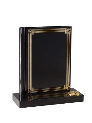 Dense Black Granite Bookset Memorial - EC140