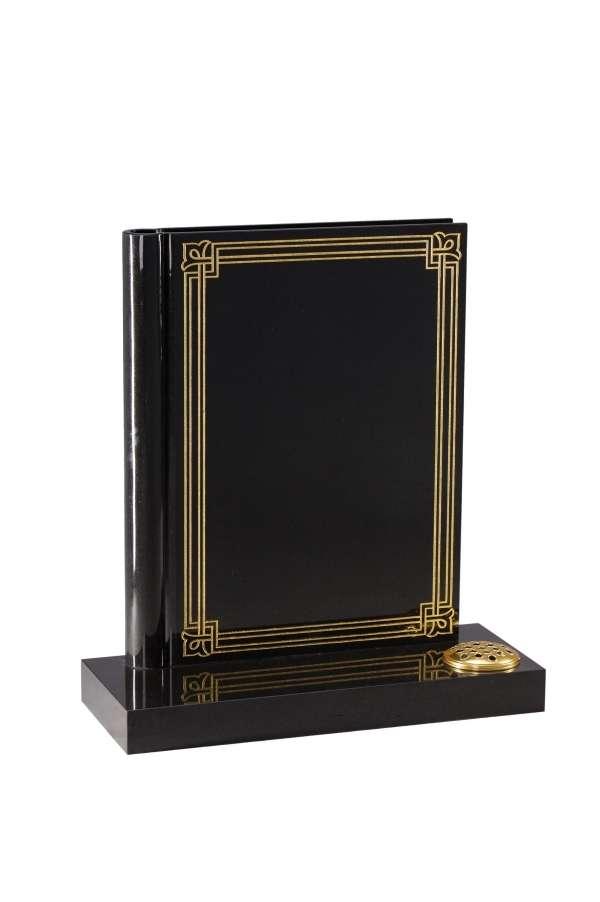 Dense Black Granite Bookset Memorial - EC140