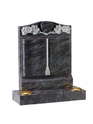 Bahama Blue granite Bookset Memorial - EC141