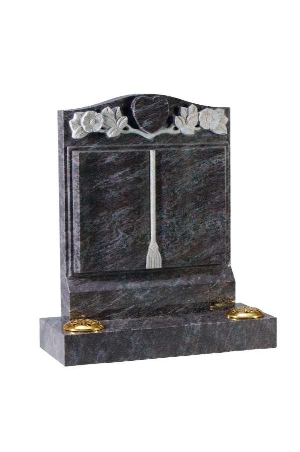 Bahama Blue granite Bookset Memorial - EC141