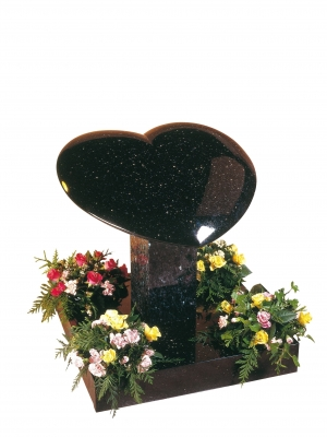 Star Galaxy Granite Heart Memorial - EC150