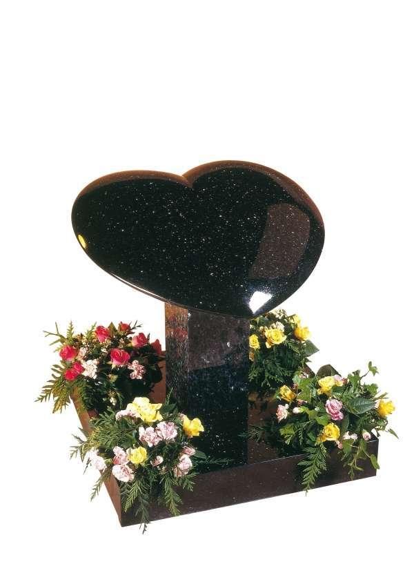 Star Galaxy Granite Heart Memorial - EC150