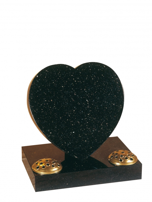 Star Galaxy Granite Heart Memorial - EC154