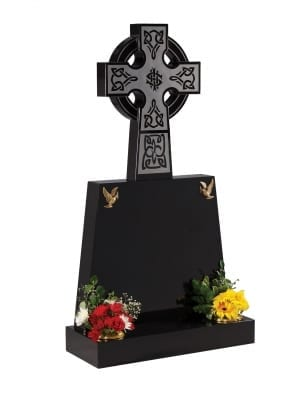 Dense Black Granite Memorial - EC213