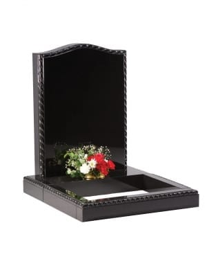 Dense Black Granite Memorial - EC214
