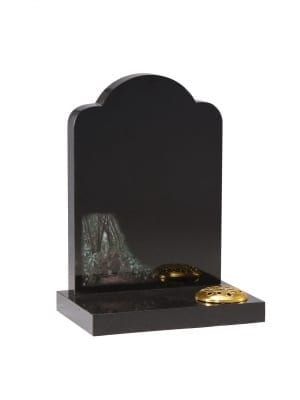 Dense Black Granite Children's Memorial - EC225