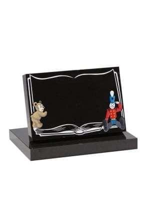 Dense Black Granite Children's Memorial - EC229