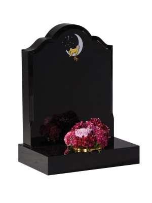 Dense Black Granite Children's Memorial - EC232