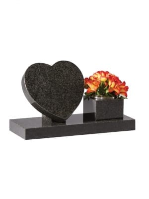 Dark Grey Granite Memorial Stone - EC243