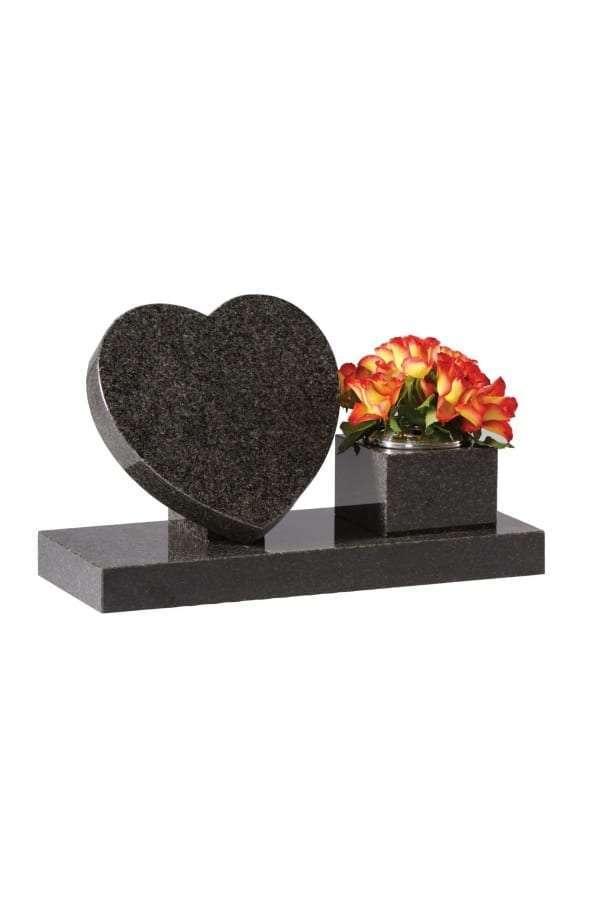 Dark Grey Granite Memorial Stone - EC243