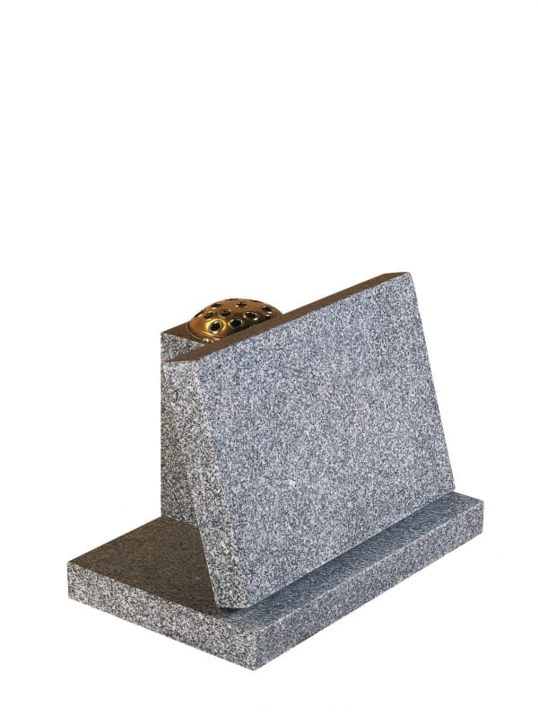Lunar Grey Granite Memorial Stone - EC248