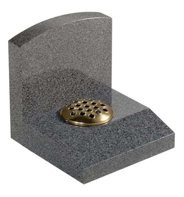 Dark Grey Granite Memorial Stone - EC249