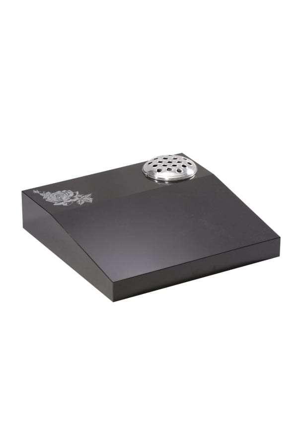 Dense Black Granite Memorial Stone - EC253