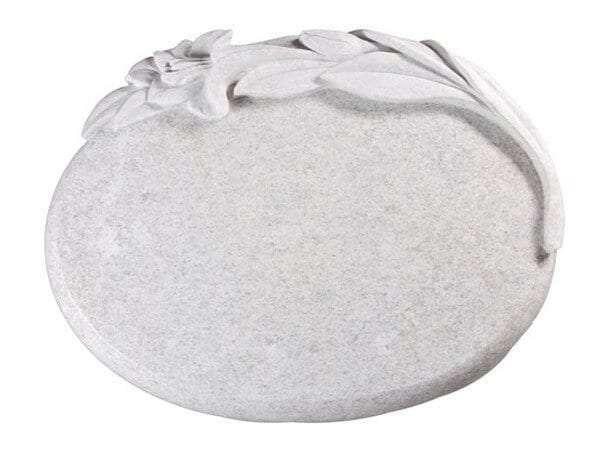 Rose White Tablet Memorial Stone - EC258