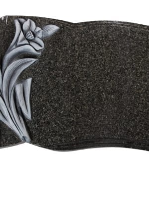 Dark Grey Granite Memorial Stone - EC262