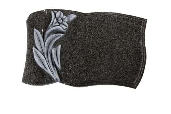 Dark Grey Granite Memorial Stone - EC262