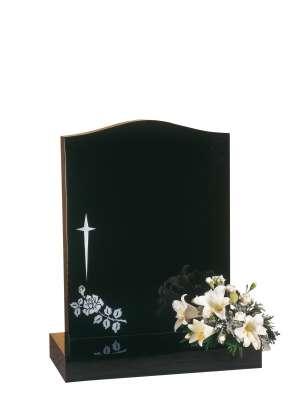Dense Black Granite Memorial - EC31