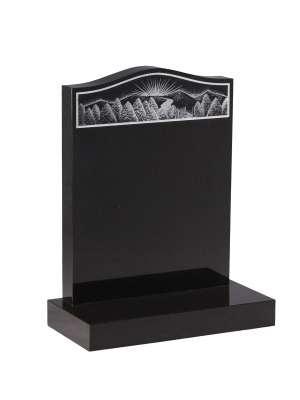Dense Black Granite Memorial - EC33