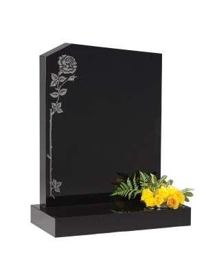 Dense Black Granite Memorial - EC34