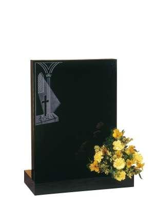 Dense Black Granite Memorial - EC37