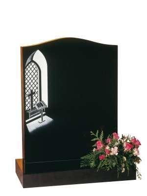 Dense Black Granite Memorial - EC38