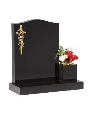 Dense Black Granite Memorial - EC41