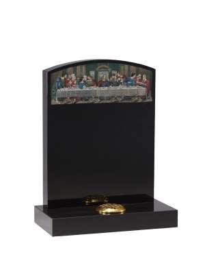 Dense Black Granite Memorial - EC42