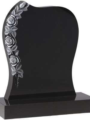 Dense Black Granite Memorial - EC75