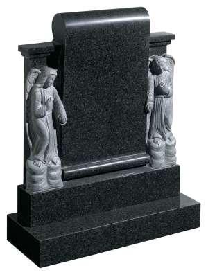 Rustenburg Dark Grey Granite Memorial - EC87