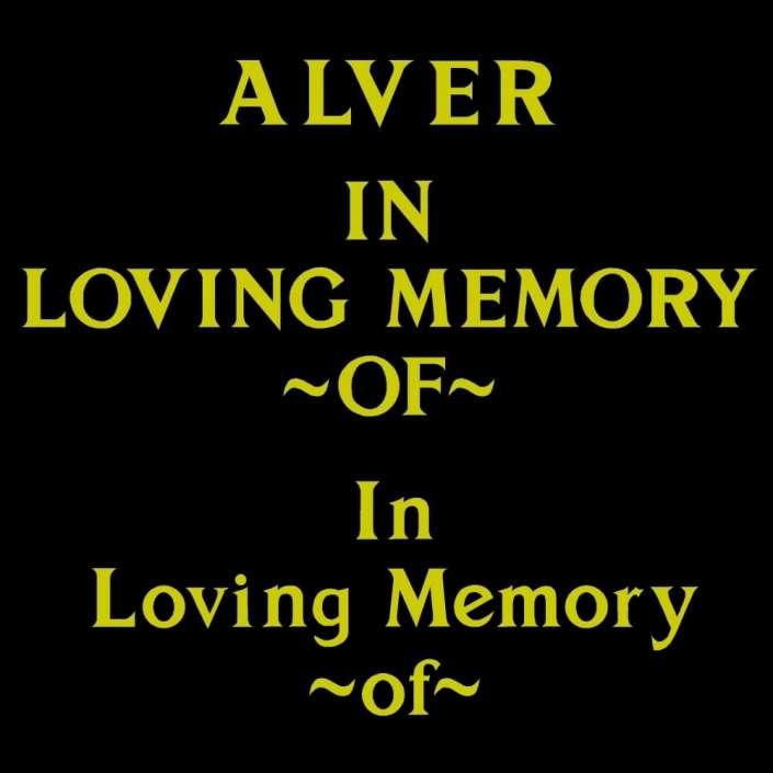 Alver font for grave lettering