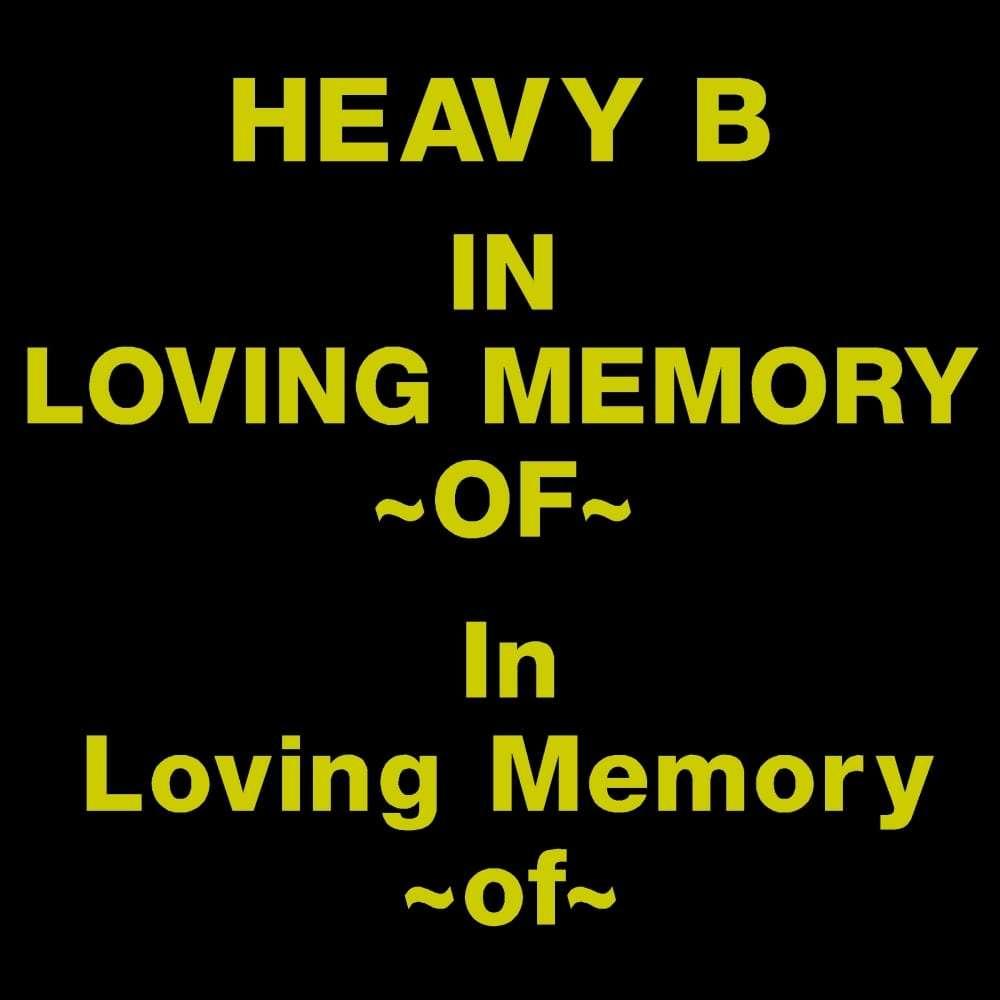 HEAVY B font for gravestone lettering