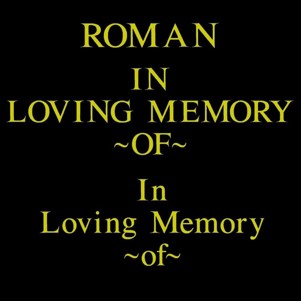 ROMAN font for grave lettering