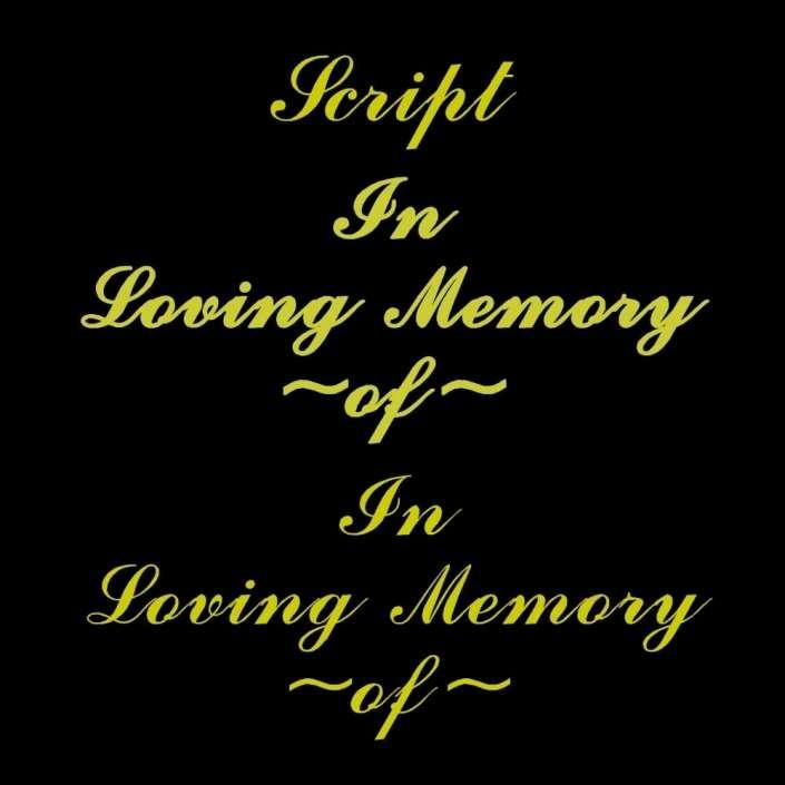 SCRIPT font for grave lettering