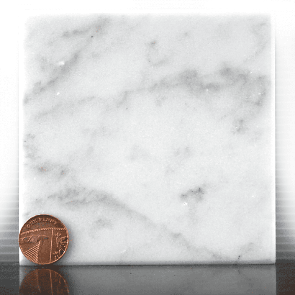 White marble headstone sample