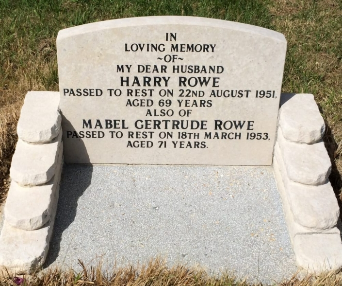 a cleaned headstone after renovation