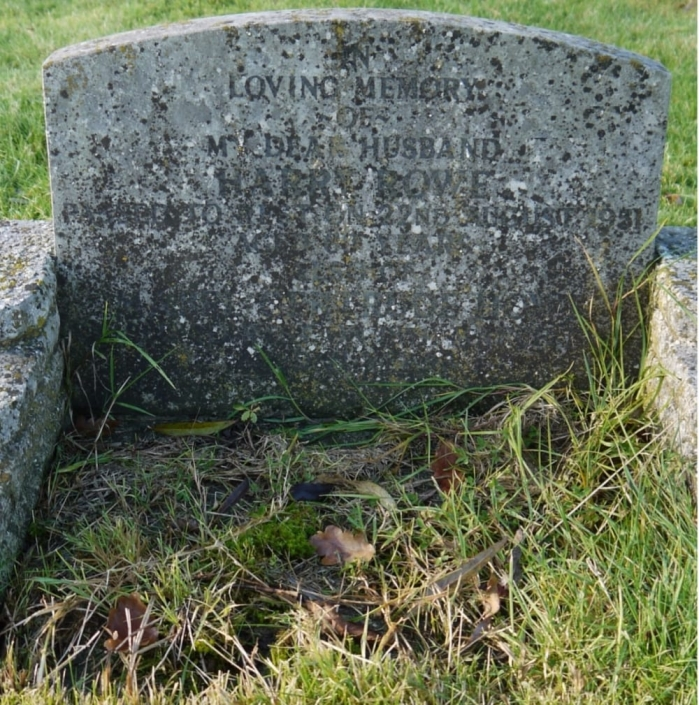a headstone before renovation