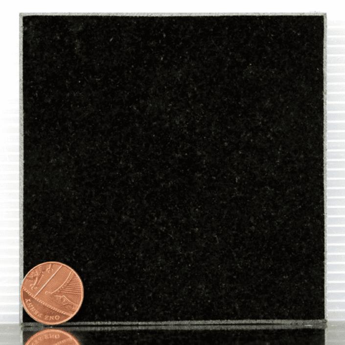 black granite headstone sample