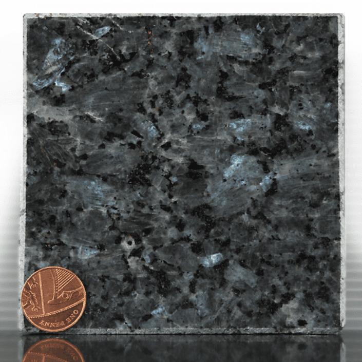 blue pearl granite headstone sample