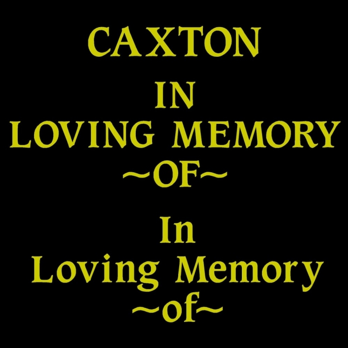 caxton font for gravestone